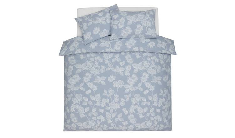 Argos Home Light Blue Floral Bedding Set - Double