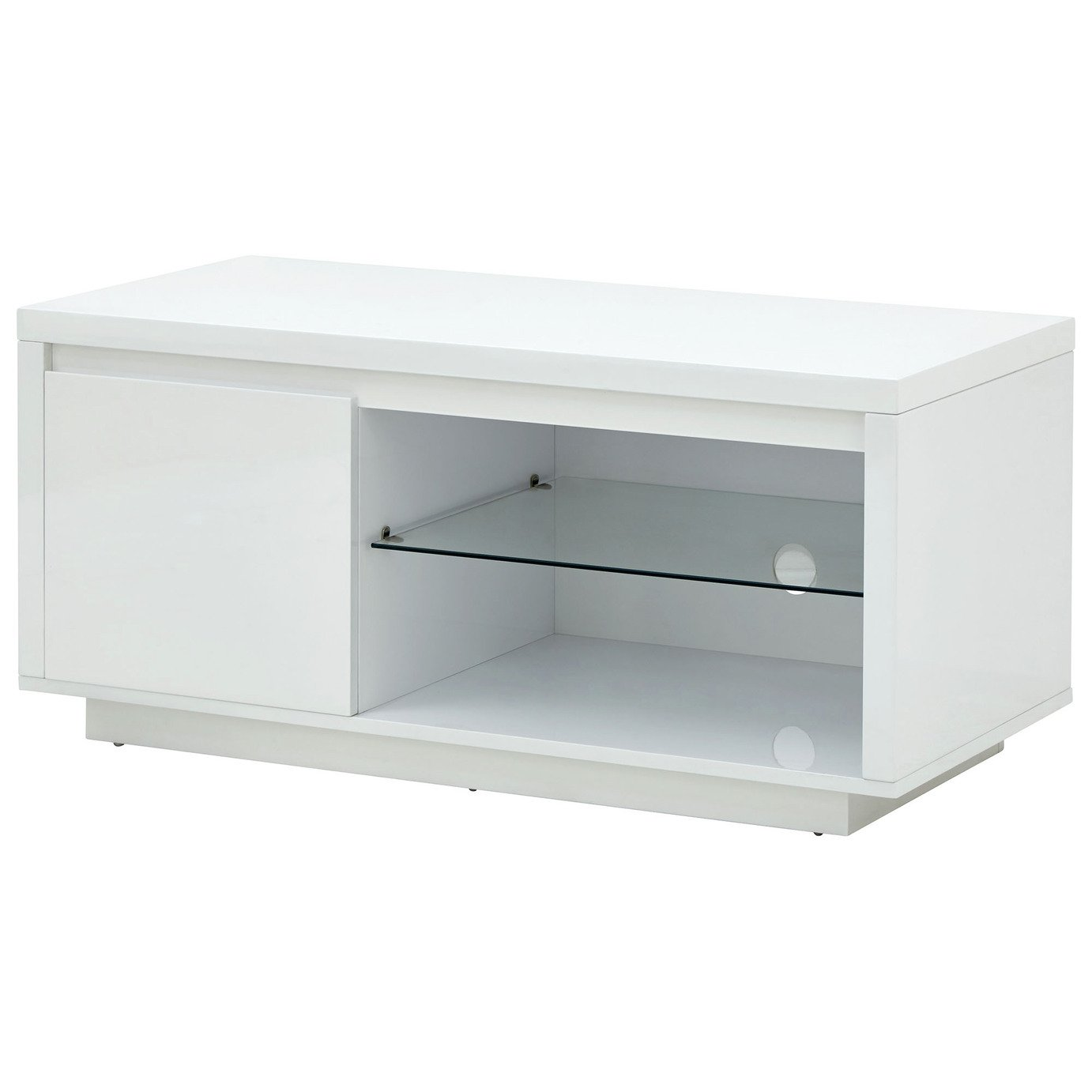 Polar 1 Door TV Unit - White Gloss