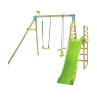 TP Kite Wooden Double Swing and Slide Multiplay