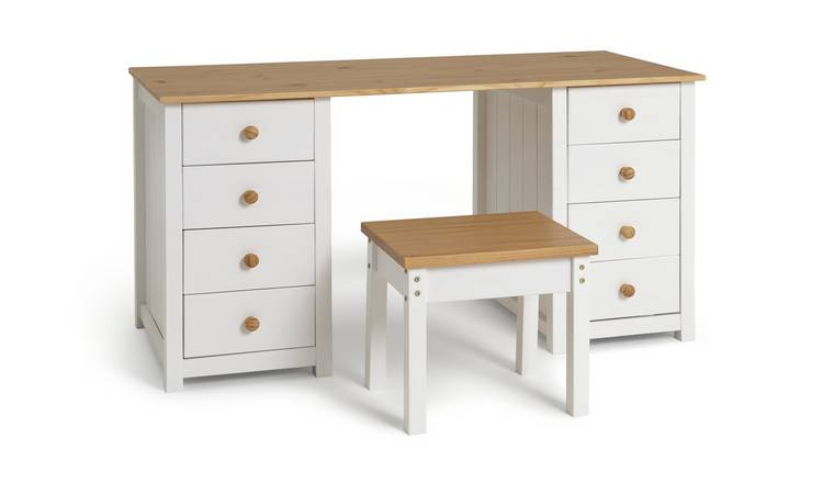 Habitat Scandinavia Dressing Table & Stool - Two Tone