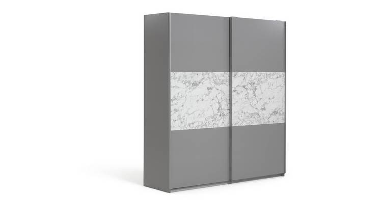 Argos Home Holsted Large Sliding Wardrobe - Grey & Marble