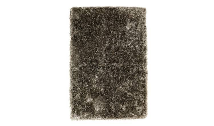 Habitat Luxury Long Pile Rug - 120x170cm - Dove Grey