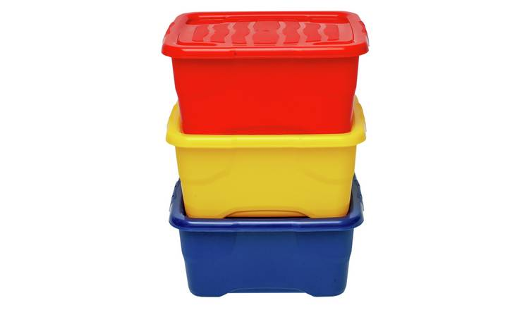 Strata 10 Litre Curve Plastic Box with Lid - Set of 3