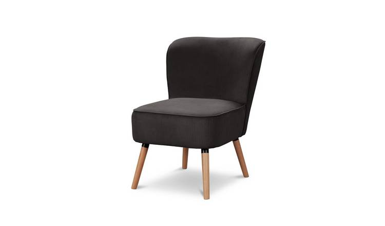 Habitat Eppy Fabric Accent Chair - Charcoal