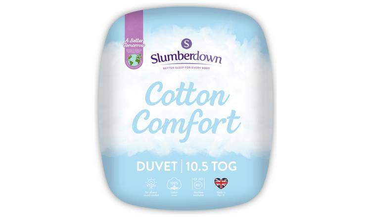 Slumberdown Cotton Comfort 10.5 Tog Duvet - Single