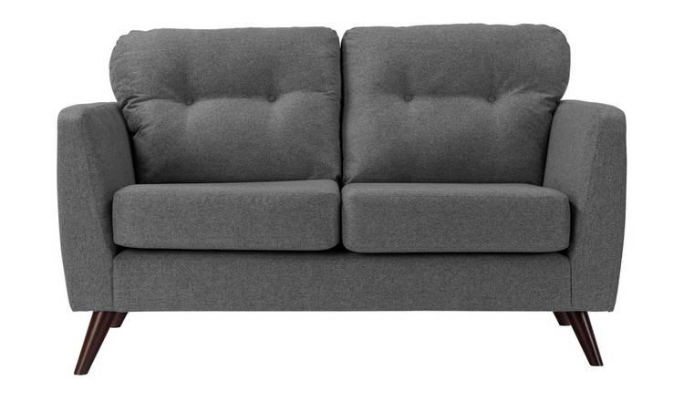 Habitat Hayle 2 Seater Fabric Sofa - Grey