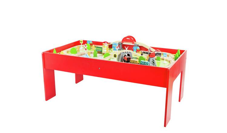 Chad Valley Battery Powered Train and Table - 90 Piece Set