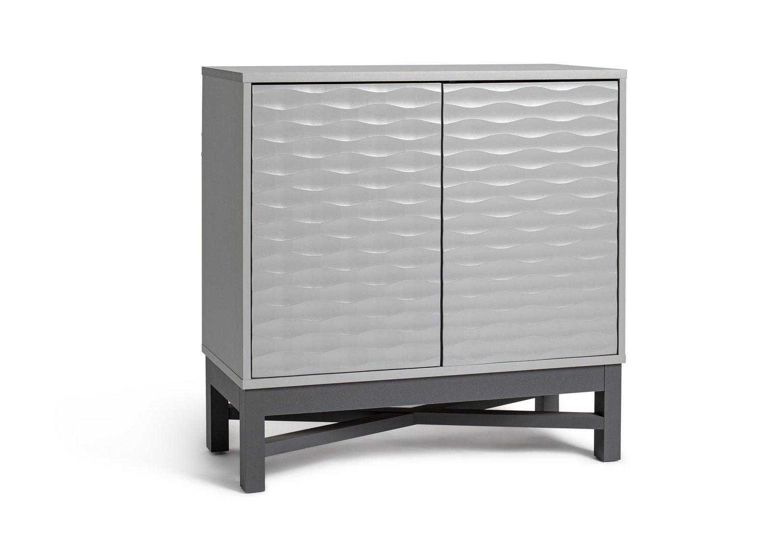 Habitat Zander Textured Small Sideboard - Grey