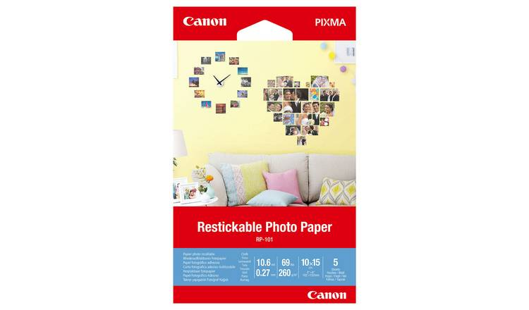 Canon 4x6 Inch Photo Stickers - 5 Pack