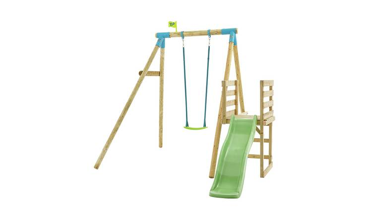 TP Robin Wooden Kids Swing and 6ft Slide Multiplay