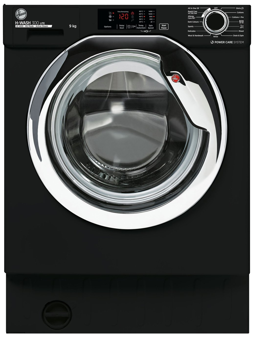 Hoover HBWS 49D3ACBE 9KG Integrated Washing Machine - Black