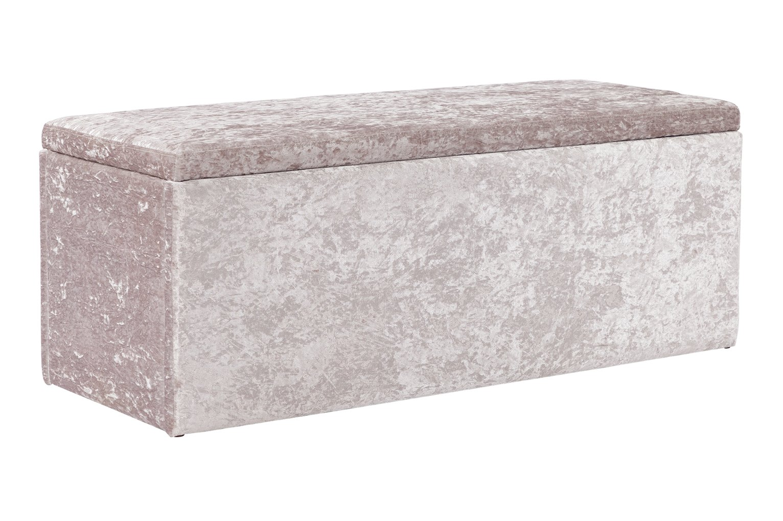 Argos Home Kourtney Crushed Velvet Ottoman - Silver