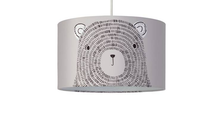 Argos Home Wildlife Wonders Bear Face Shade - Grey