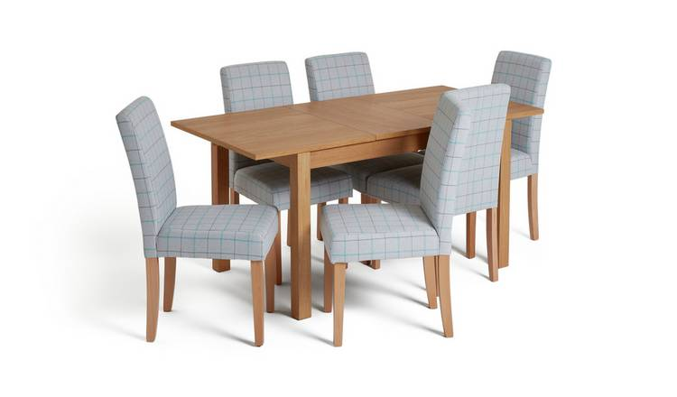Habitat Clifton Extending Table & 6 Chairs - Light Grey