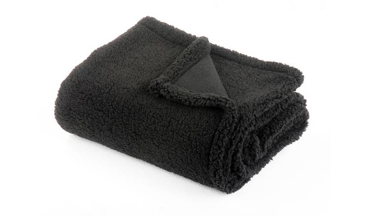 Argos Home Cosy Throw - 125x150cm - Black