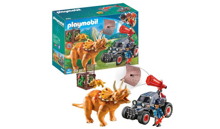 Playmobil 9434 Dinos Enemy Quad with Triceratops