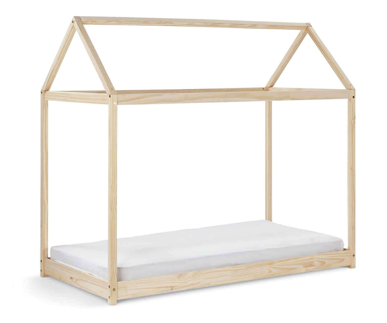 Habitat House Single Bed Frame and Kids Mattress - Pine