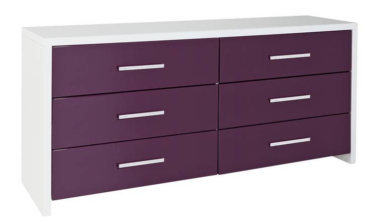 Buy Argos Home Broadway 33 Drawer Chest Plum Gloss White