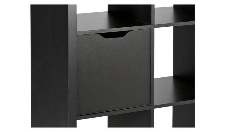 Habitat Squares Plus Storage Cupboard Door - Black