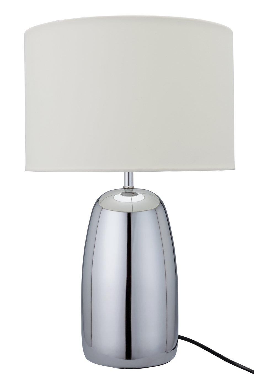 Argos Home Largo Chrome Touch Table Lamp - Cream