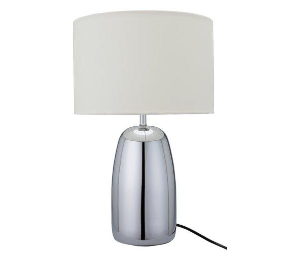 Buy argos home largo chrome touch table lamp cream table lamps argos home largo chrome touch table lamp cream aloadofball Gallery