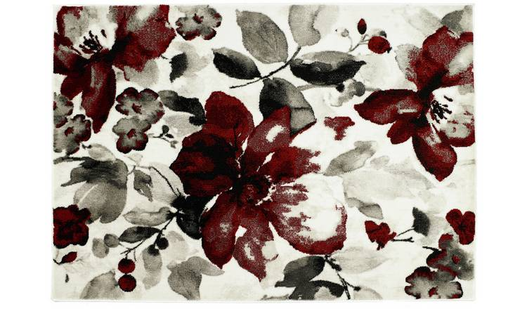 Origins Watercolour Rug - 120x170cm - Red