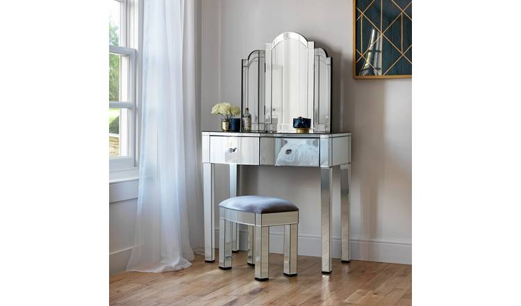 watch d77d9 e5ada Buy Argos Home Canzano Mirrored 2 Drawer Dressing Table Set | Dressing  tables | Argos