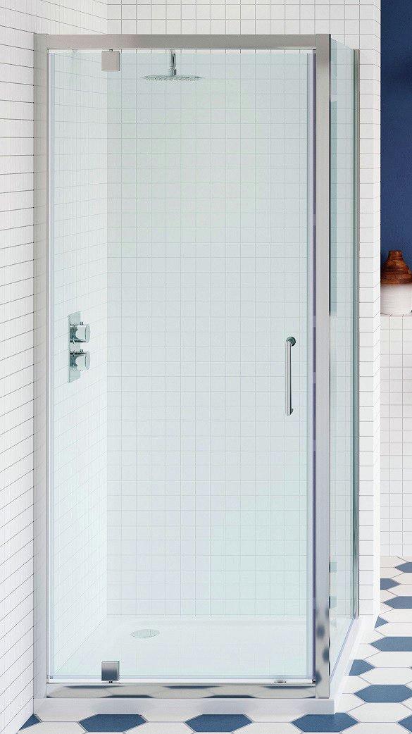 Lavari 800mm Temper Glass Pivot Shower Door Enclosure & Tray