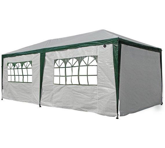 HOME 3m X 6m Gazebo With Waterproof Side Panels
