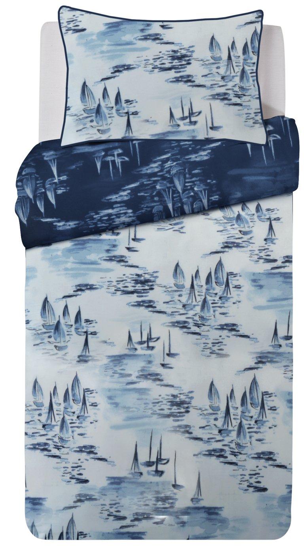 Argos Home Watercolour Ships Bedding Set - Single