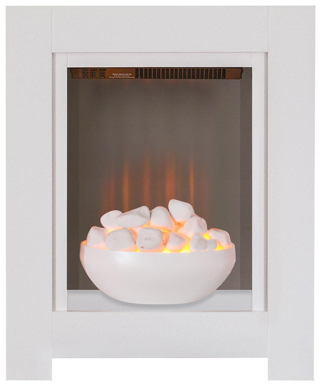 Adam Monet 2kW Electric Fire Suite - White