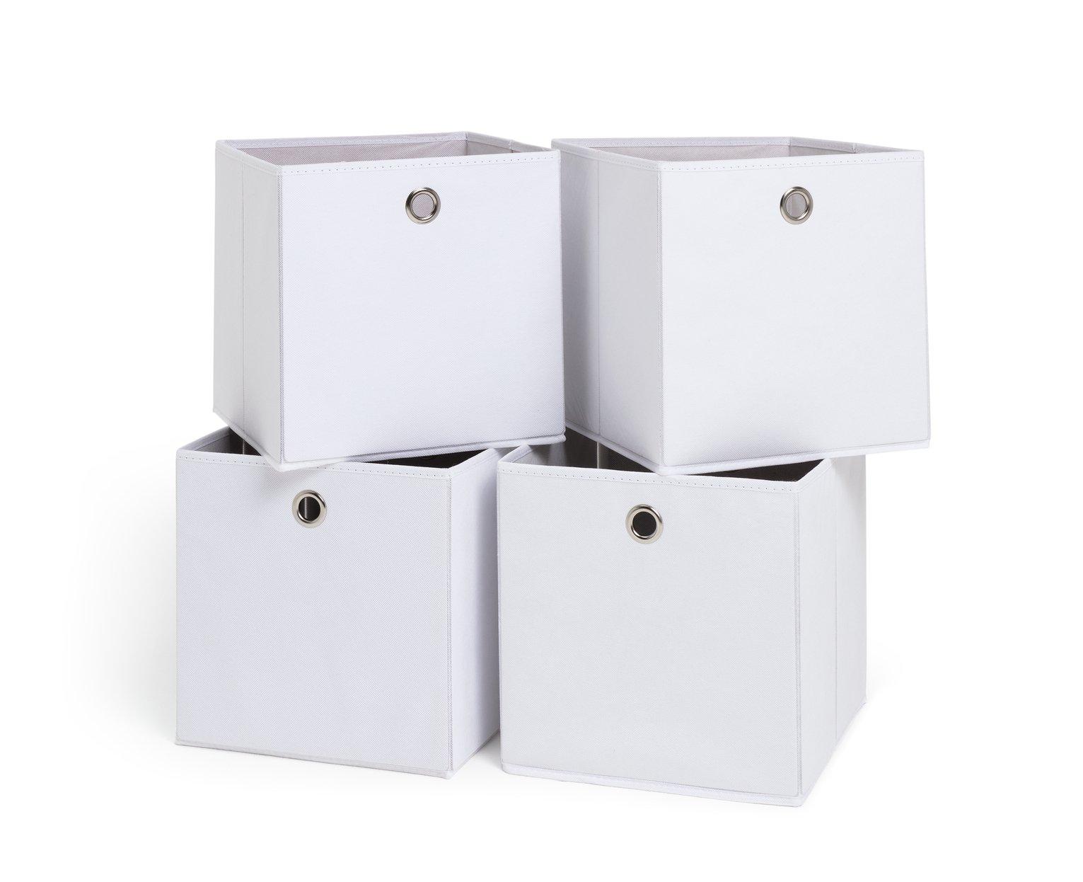 Habitat Set of 4 Squares Boxes - Off-White