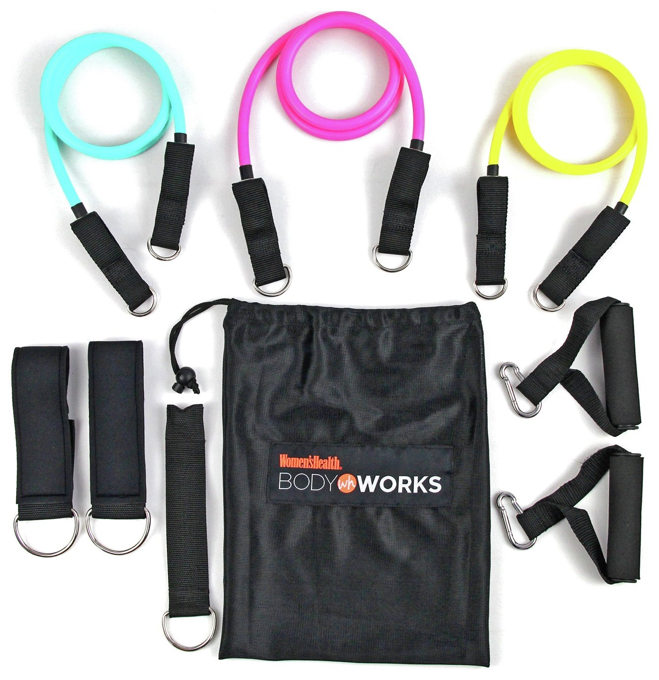 Women's Health Resistance Band Tube Set - 3 Pack