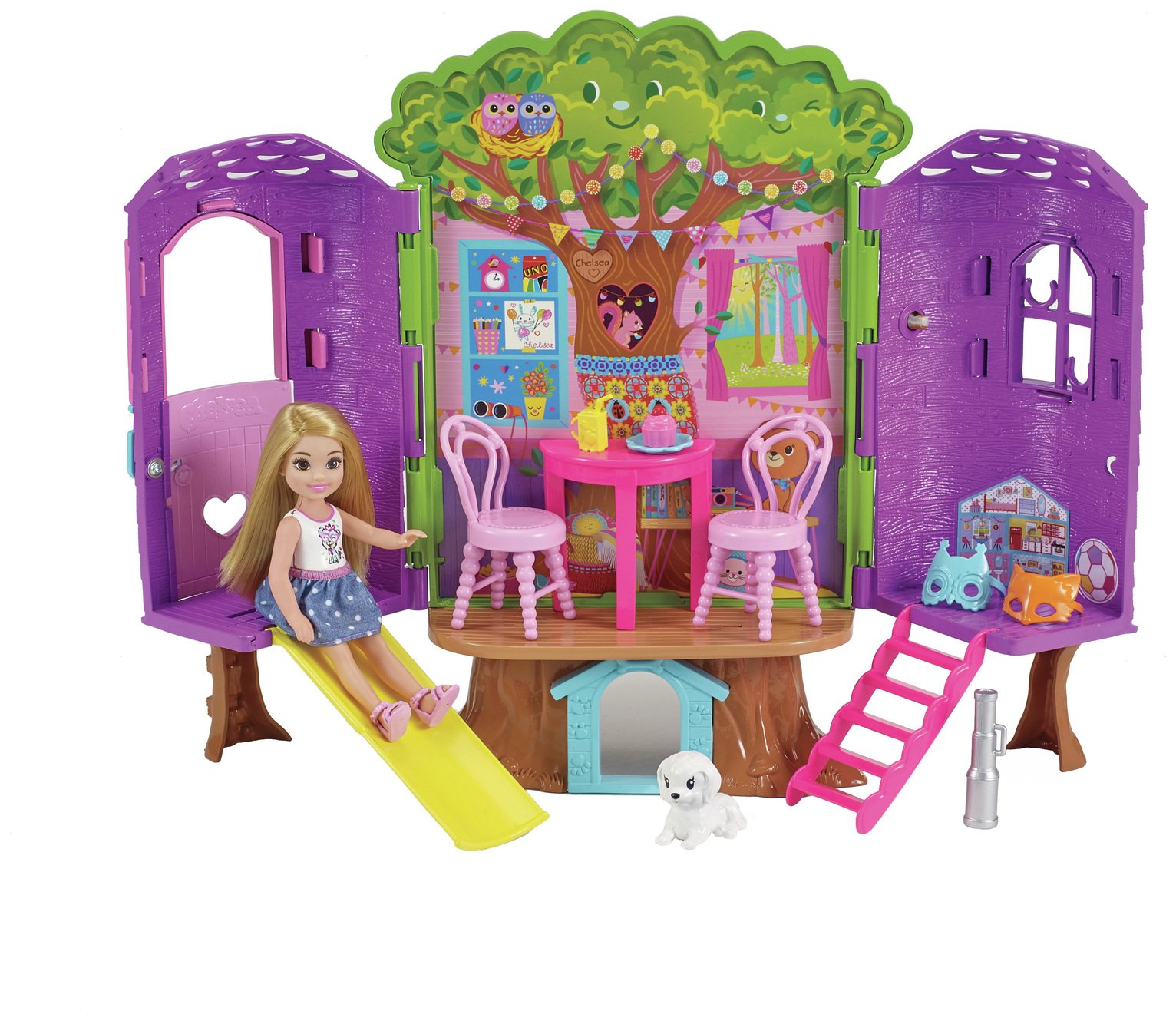 Barbie Chelsea Doll and Clubhouse Treehouse