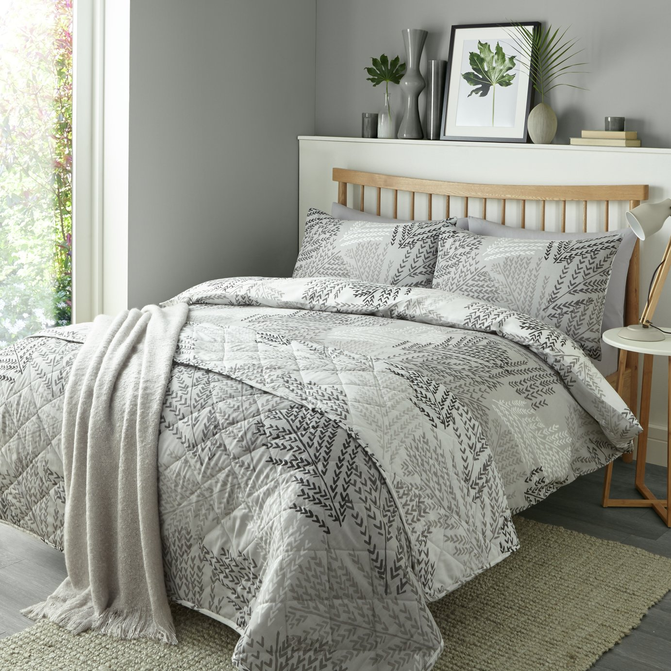 Image of Fusion Alena Silver Bedding Set - Double