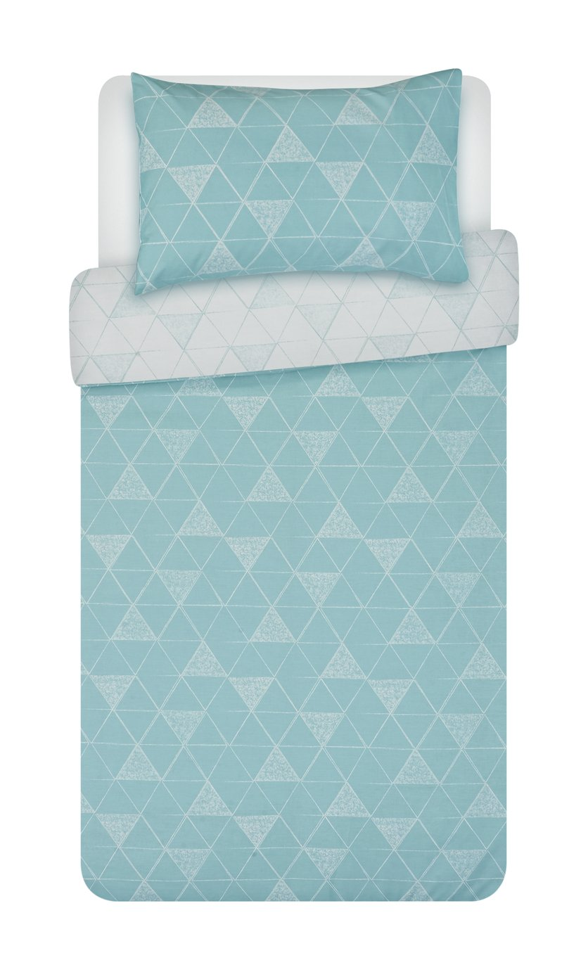 Argos Home Tribe Duck Egg Geo Bedding Set - Single