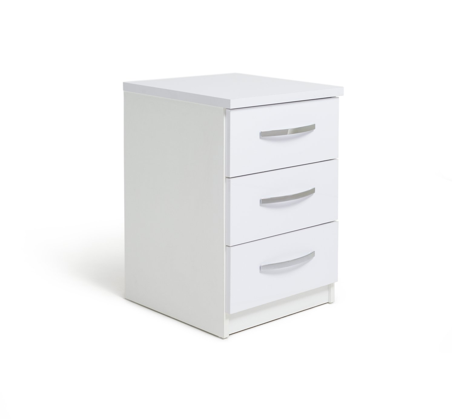 Argos Home New Hallingford 3 Drawer Gloss Bedside Chest