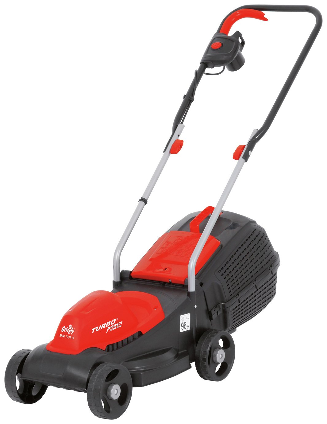 Image of Grizzly Tools 31cm Electric Rotary Lawnmower - 1200W