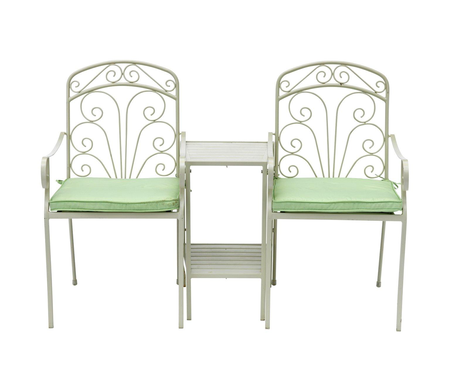 Argos Home Jasmine Metal Duo Love Seat with Cushions