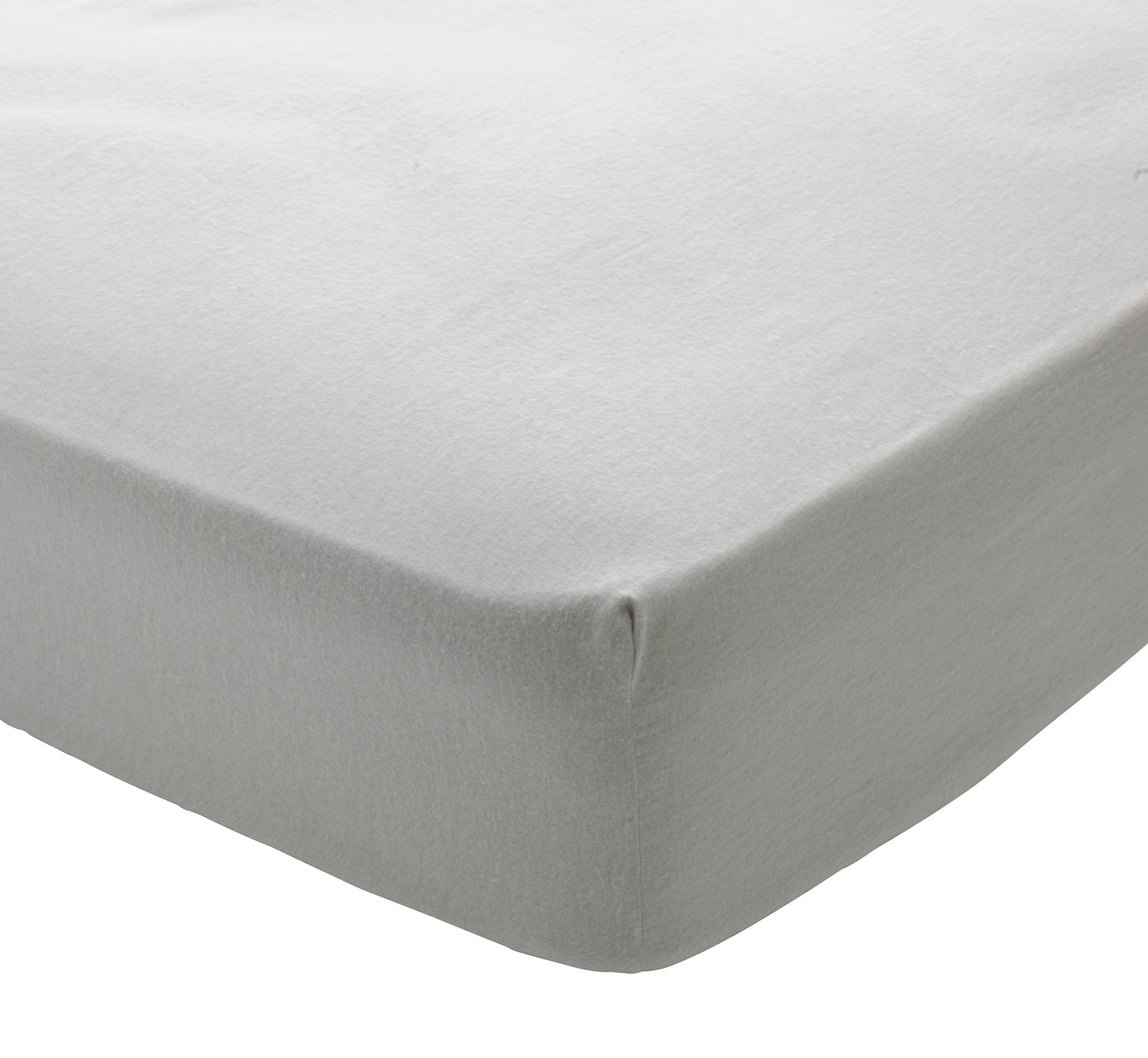 Argos Home Grey Brushed Cotton Fitted Sheet - Toddler