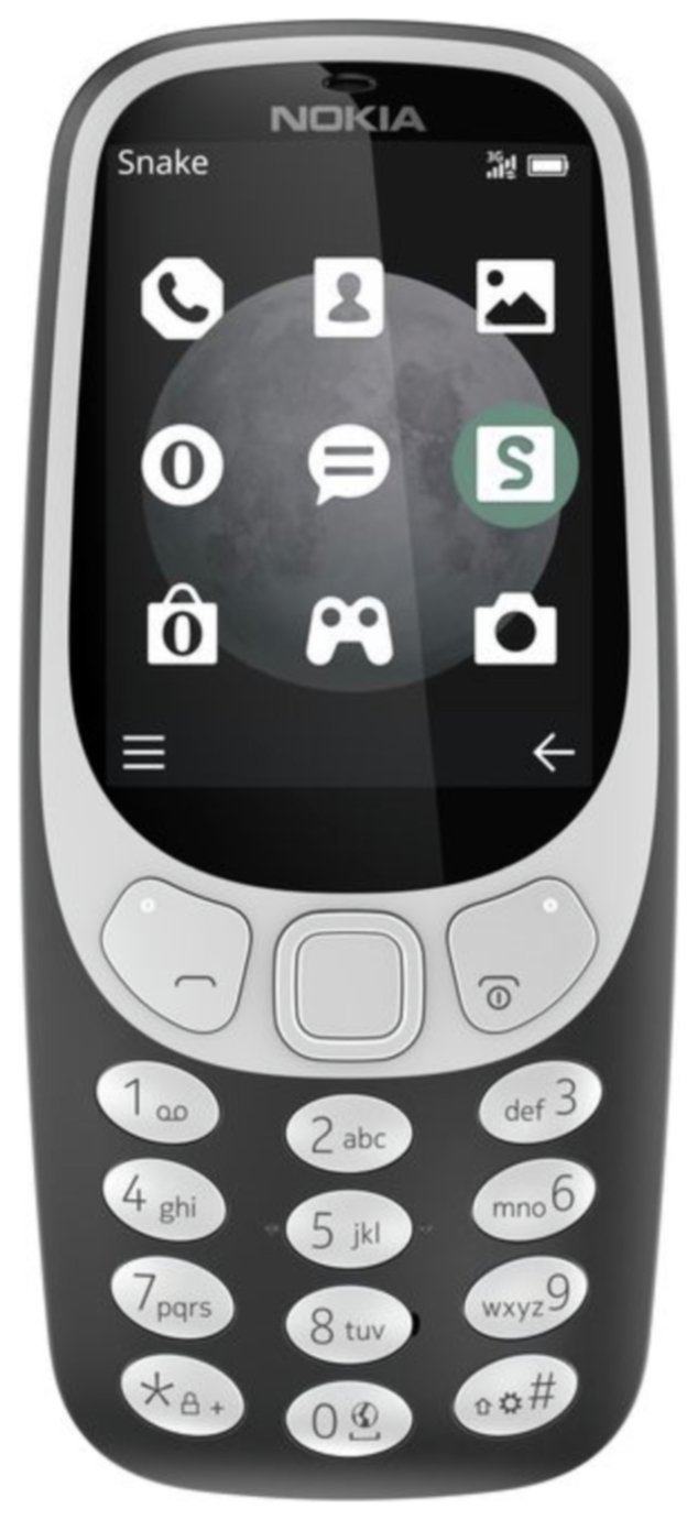SIM Free Nokia 3310 Mobile Phone - Charcoal