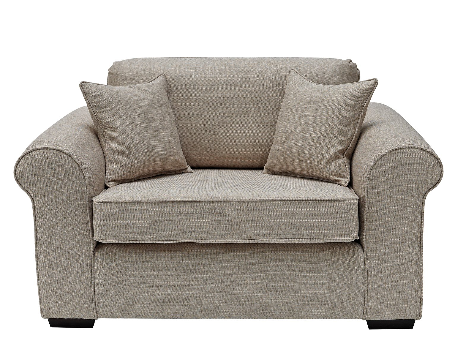 Collection Erinne Fabric Cuddle Chair - Natural