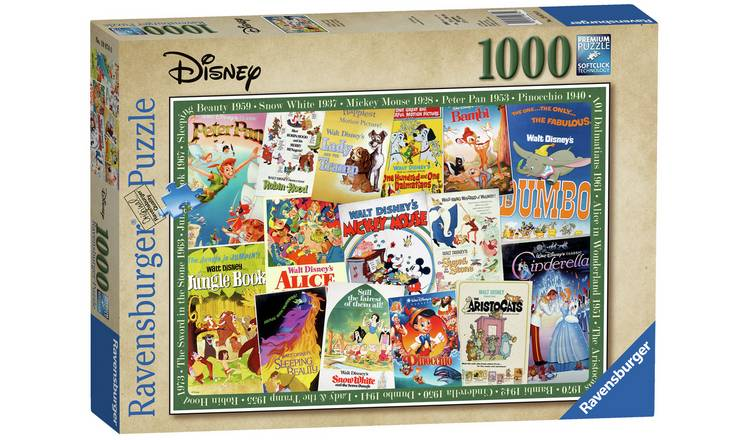 Disney Vintage Movie Posters Jigsaw - 1000 pieces