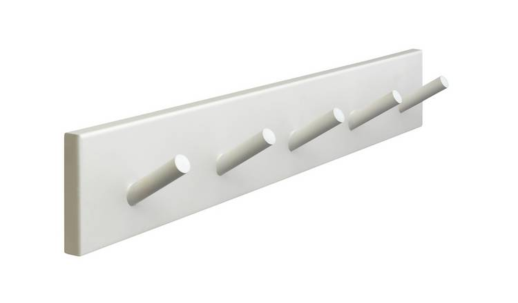 Argos Home 5 Peg hooks - White