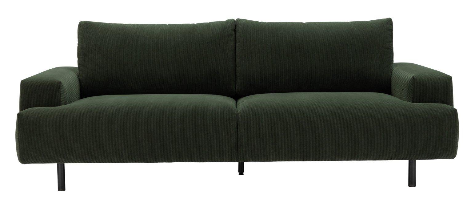 Habitat Julien 3 Seater Fabric Sofa - Dark Green