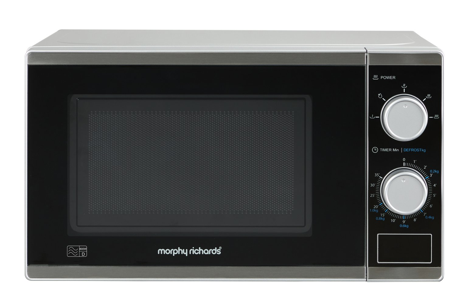 Morphy Richards 800W Standard Microwave - Silver