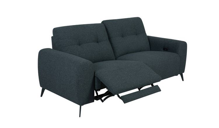 Habitat Ghost 3 Seater Fabric Power Recliner Sofa - Charcoal