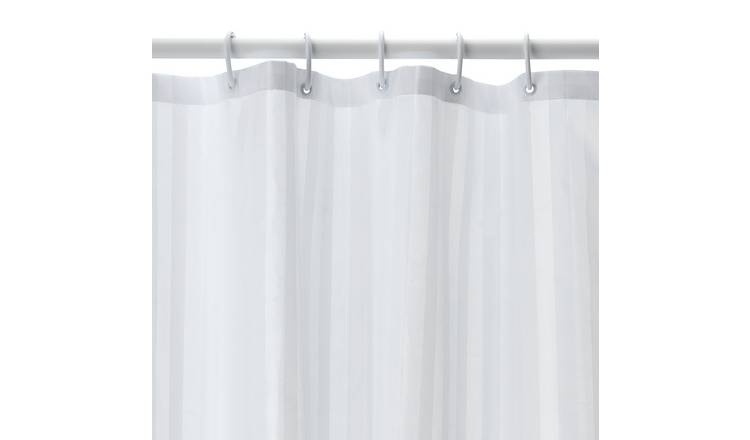 Argos Home Multi-way Shower Curtain and Rail Set - White