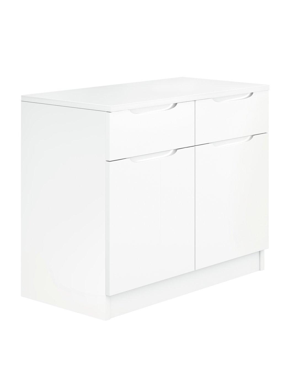 Legato Gloss 2 Door 2 Drawer Sideboard - White