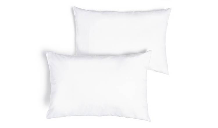 Argos Home Brushed Cotton Standard Pillowcase Pair - White